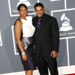 Jennifer Hudson, David Otunga in The 51st Annual GRAMMY Awards - Arrivals
