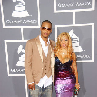 T.I., Tameka Cottle in The 51st Annual GRAMMY Awards - Arrivals