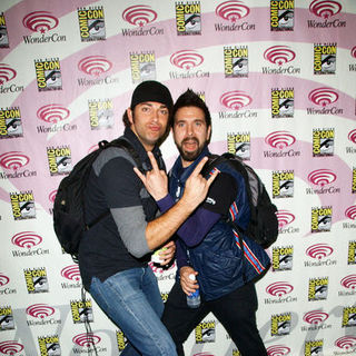 Zachary Levi, Joshua Gomez in Wonder Con - Day 3