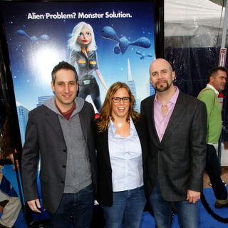 "Rob Letterman, Conrad Vernon, Lisa Stewart in ""Monsters vs. Aliens"" Los Angeles Premiere - Arrivals"
