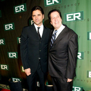 John Stamos, Peter Roth in 'ER' Finale Party - Arrivals