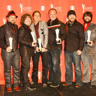 Zac Brown Band in 44th Annual Academy Of Country Music Awards - Press Room