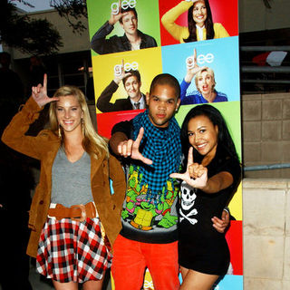 "Heather Morris, Naya Rivera, Dijon Talton in ""Glee"" Los Angeles Premiere Event - Arrivals"