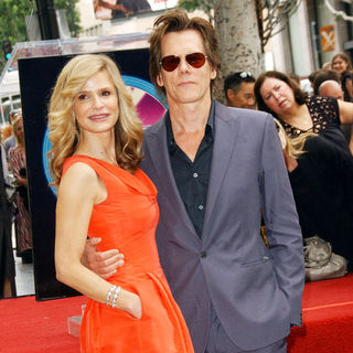 Kevin Bacon, Kyra Sedgwick in Actress Kyra Sedgewick Honored With A Star On The Hollywood Walk Of Fame