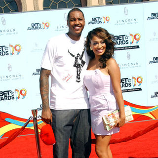 Carmelo Anthony, La La Vazquez in 2009 BET Awards - Arrivals