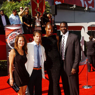 Brooke Burke, David Charvet, Lisa Leslie, Michael Lockwood in 17th Annual ESPY Awards - Arrivals