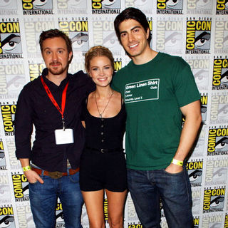 Anita Briem, Sam Huntington, Brandon Routh in 2009 Comic Con International - Day 1