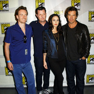 Michael Fassbender, Jimmy Hayward, Megan Fox, Josh Brolin in 2009 Comic Con International - Day 2