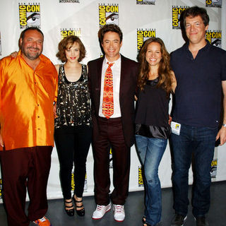 Joel Silver, Rachel McAdams, Robert Downey Jr., Susan Levin, Lionel Wigram in 2009 Comic Con International - Day 2