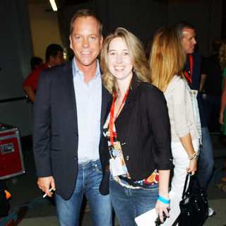 Kiefer Sutherland, Tara Bennett in 2009 Comic Con International - Day 2