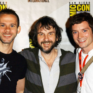 Dominic Monaghan, Peter Jackson, Elijah Wood in 2009 Comic Con International - Day 2