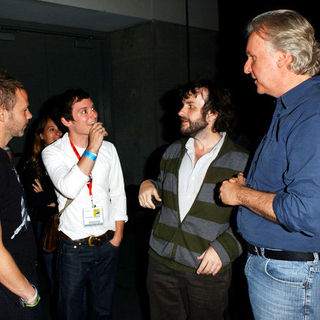 Dominic Monaghan, Peter Jackson, Elijah Wood, James Cameron in 2009 Comic Con International - Day 2