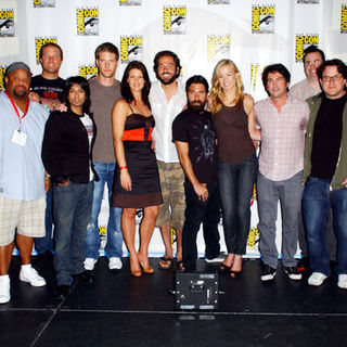 Zachary Levi, Yvonne Strahovski, Joshua Gomez, Scott Krinsky, Mark Christopher Lawrence, Sarah Lancaster, Adam Baldwin, Ryan McPartlin in 2009 Comic Con International - Day 3