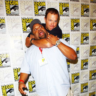 Adam Baldwin, Mark Christopher Lawrence in 2009 Comic Con International - Day 3