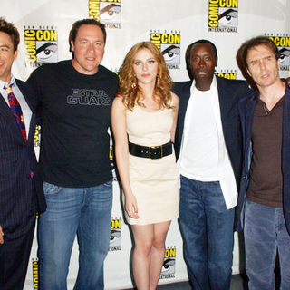 Robert Downey Jr., Jon Favreau, Scarlett Johansson, Don Cheadle, Sam Rockwell in 2009 Comic Con International - Day 3