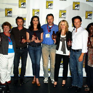 Anna Paquin, Rutina Wesley, Sam Trammell, Stephen Moyer, Nelsan Ellis, Alan Ball, Deborah Ann Woll, Michelle Forbes, Charlaine Harris in 2009 Comic Con International - Day 3