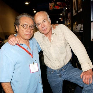 Edward James Olmos, Michael Hogan in 2009 Comic Con International - Day 4