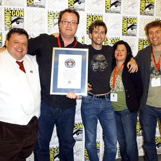 David Tennant, Euros Lyn, Russell T. Davies, Helen Raynor in 2009 Comic Con International - Day 4