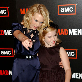 "January Jones, Kiernan Shipka in ""Mad Men"" Season Three Los Angeles Premiere - Arrivals"