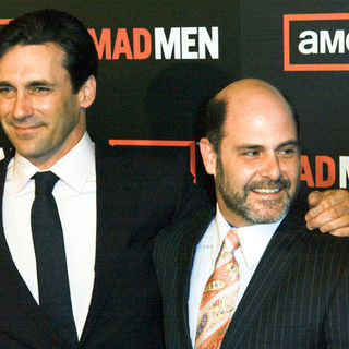 "Jon Hamm, Matthew Weiner in ""Mad Men"" Season Three Los Angeles Premiere - Arrivals"