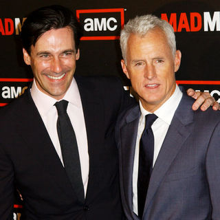 "Jon Hamm, John Slattery in ""Mad Men"" Season Three Los Angeles Premiere - Arrivals"