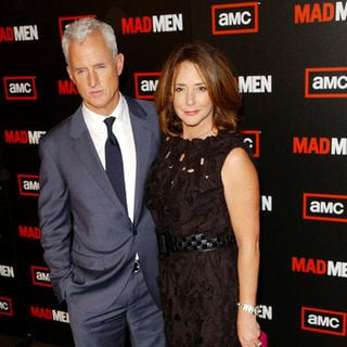 "John Slattery, Talia Balsam in ""Mad Men"" Season Three Los Angeles Premiere - Arrivals"