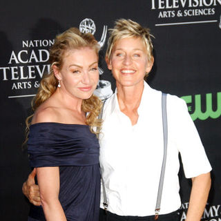 Ellen DeGeneres, Portia de Rossi in 36th Annual Daytime EMMY Awards - Arrivals