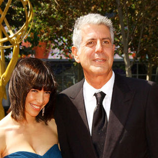 Anthony Bourdain, Ottavia Busia in 61st Annual Primetime Creative Arts Emmy Awards - Arrivals
