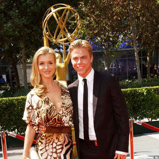 Joanna Krupa, Derek Hough in 61st Annual Primetime Creative Arts Emmy Awards - Arrivals