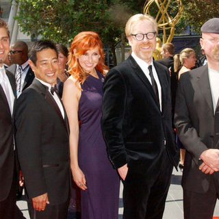 Tory Belleci, Robert Lee, Kari Byron, Adam Savage, Jamie Hyneman in 61st Annual Primetime Creative Arts Emmy Awards - Arrivals