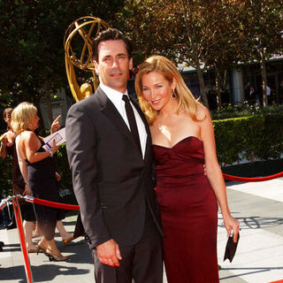 Jon Hamm, Jennifer Westfeldt in 61st Annual Primetime Creative Arts Emmy Awards - Arrivals