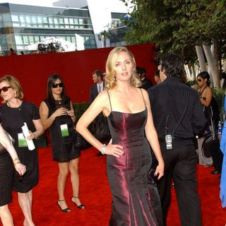 Hope Davis in The 61st Annual Primetime Emmy Awards - Arrivals