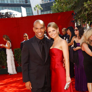 Amaury Nolasco, Jennifer Morrison in The 61st Annual Primetime Emmy Awards - Arrivals
