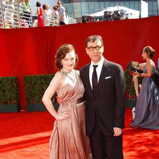 Elisabeth Moss, Fred Armisen in The 61st Annual Primetime Emmy Awards - Arrivals