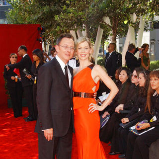 Carrie Preston, Michael Emerson in The 61st Annual Primetime Emmy Awards - Arrivals