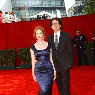 Christina Hendricks, Geoffrey Arend in The 61st Annual Primetime Emmy Awards - Arrivals