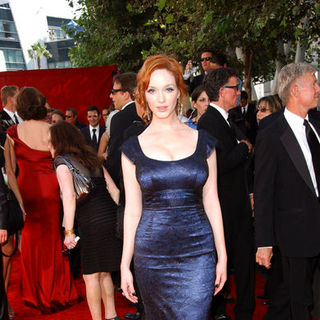 Christina Hendricks in The 61st Annual Primetime Emmy Awards - Arrivals