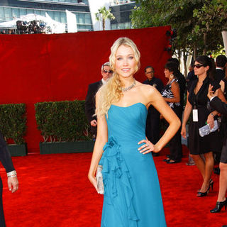 Katrina Bowden in The 61st Annual Primetime Emmy Awards - Arrivals