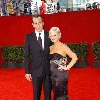 Will Arnett, Amy Poehler in The 61st Annual Primetime Emmy Awards - Arrivals