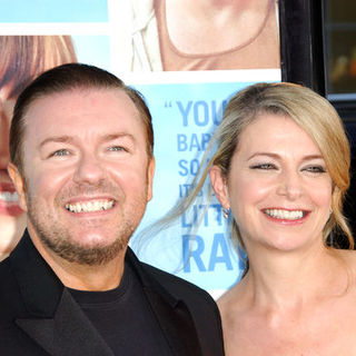 "Ricky Gervais, Jane Fallon in ""The Invention of Lying"" Los Angeles Premiere - Arrivals"
