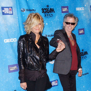 "Patti Hansen, Keith Richards in Spike TV's ""Scream 2009"" - Arrivals"