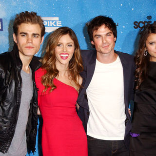 "Paul Wesley, Kayla Ewell, Ian Somerhalder, Nina Dobrev in Spike TV's ""Scream 2009"" - Arrivals"