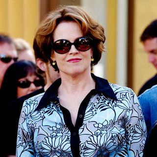 Sigourney Weaver in James Cameron Honored with a Star on the Hollywood Walk of Fame on December 18, 2009