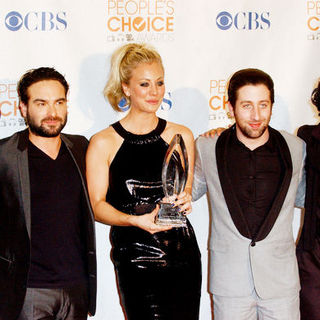 Jim Parsons, Johnny Galecki, Kaley Cuoco, Simon Helberg, Kunal Nayyar in 36th Annual People's Choice Awards - Press Room
