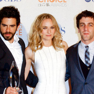 Eli Roth, Diane Kruger, B.J. Novak in 36th Annual People's Choice Awards - Press Room