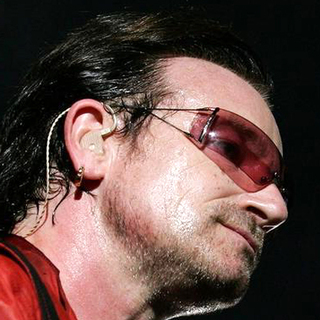 Bono in U2 in Concert Live in Rome on Their 2005 Vertigo Tour