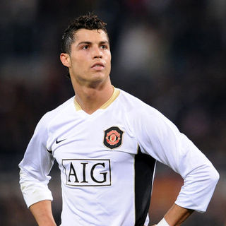 Cristiano Ronaldo in Champions League Quarter Final First Leg - AS Roma Vs. Manchester (0-2) - April 1, 2008