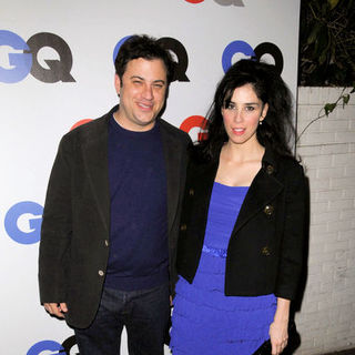 "Sarah Silverman, Jimmy Kimmel in GQ 2008 ""Men of the Year"" Party - Arrivals"