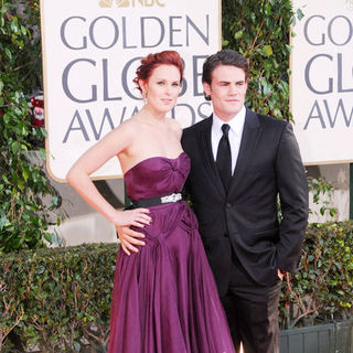 Rumer Willis, Micah Alberti in 66th Annual Golden Globes - Arrivals