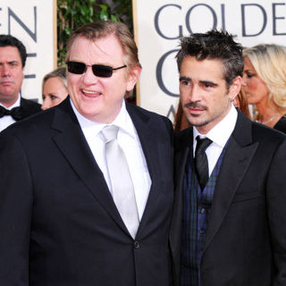 Brendan Gleeson, Colin Farrell in 66th Annual Golden Globes - Arrivals